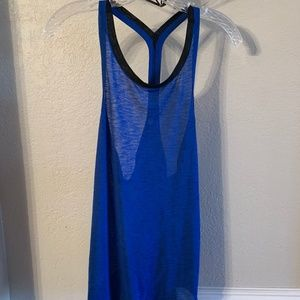 Lucy Blue Athletic Tank Top